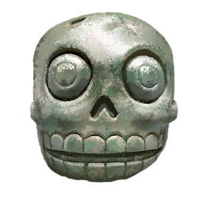 An artifact not from the movies- instead from Excavate! Mesoamerica