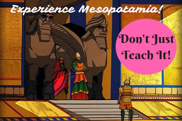 A scene showing people of Mesopotamia world history