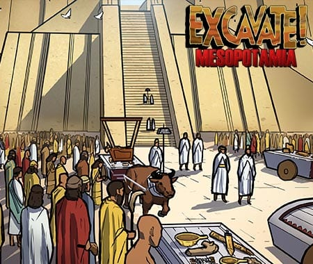 An image from Dig-iT Games' Excavate! Mesopotamia
