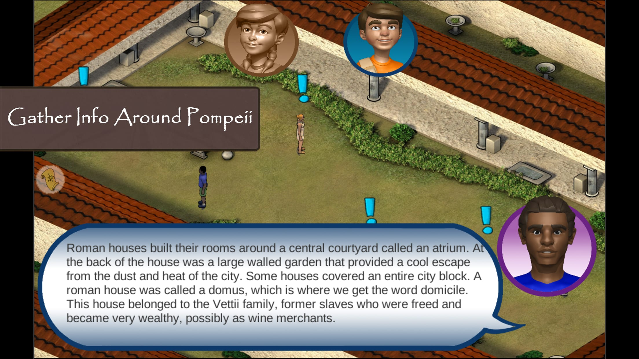 Roman Town 2 history game- stop the thief Ladrone!