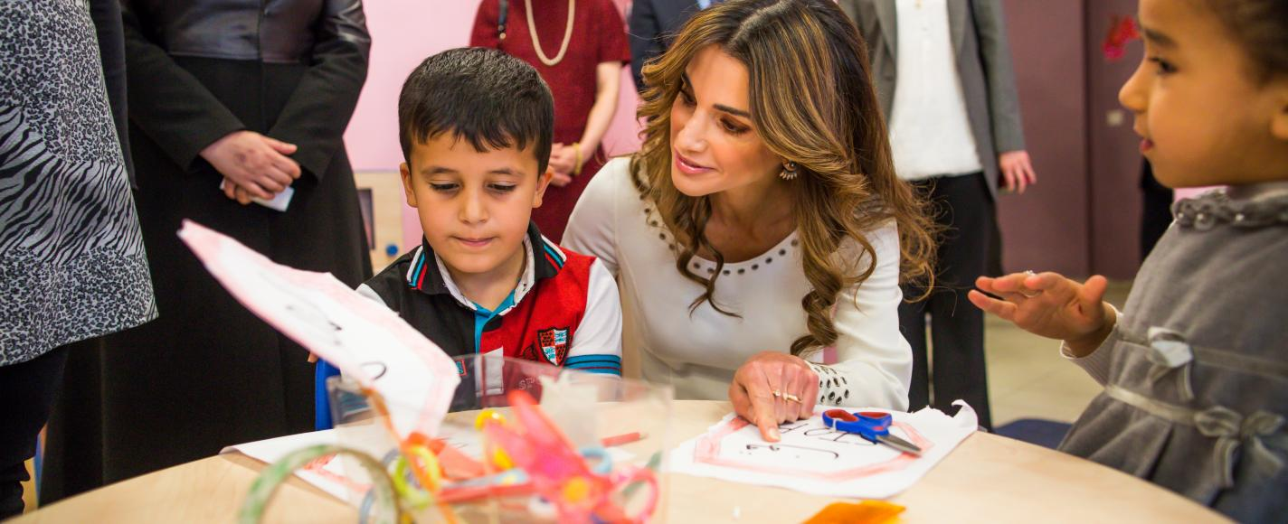 Queen rania foundation at Games for Change