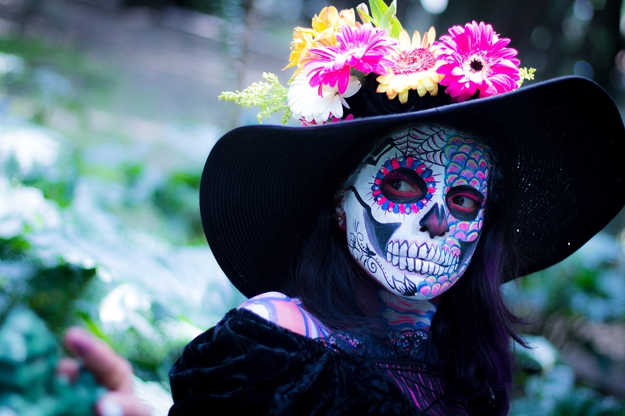 Day of the Dead Halloween holiday skull